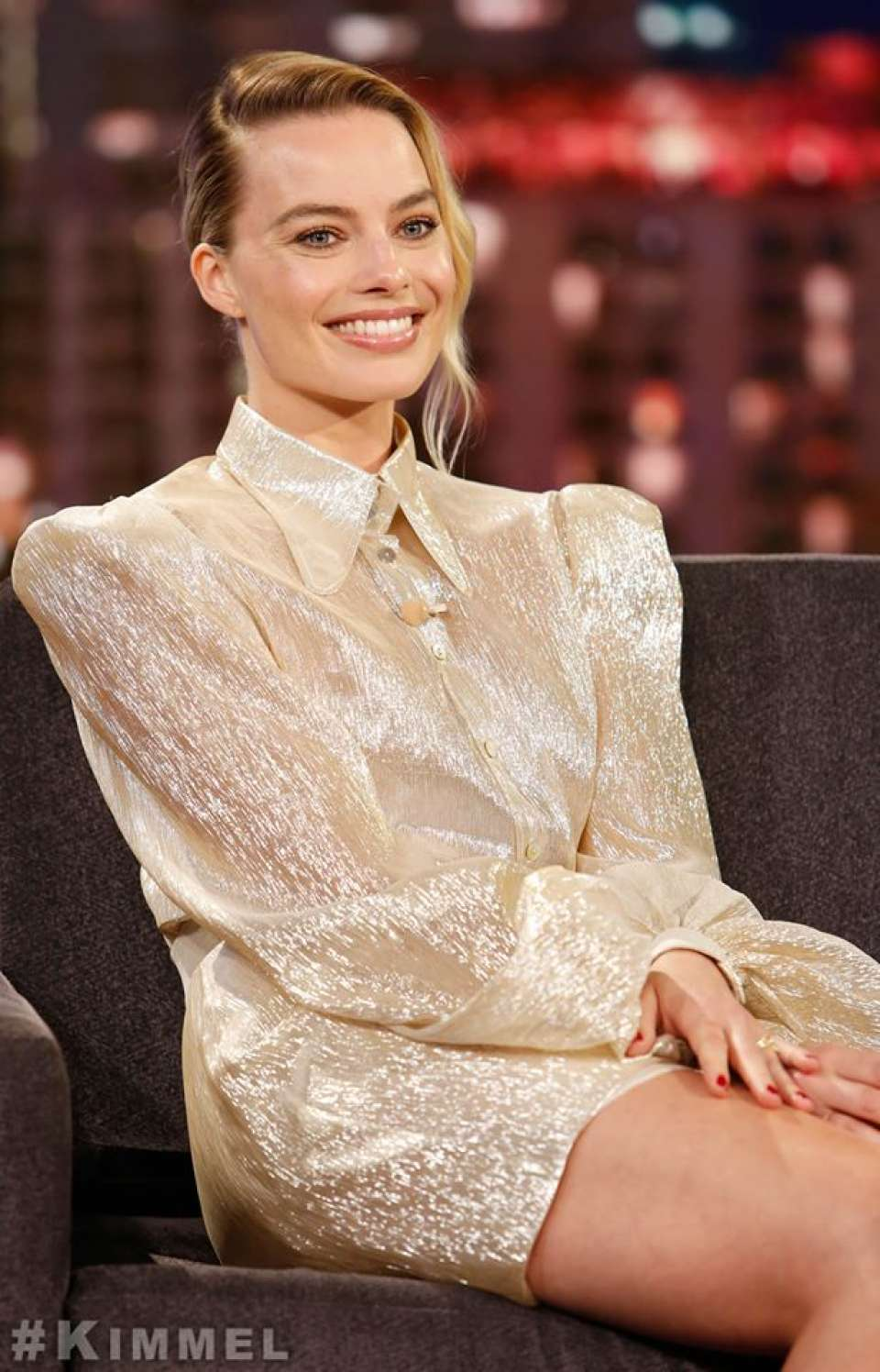 Margot Robbie - On Jimmy Kimmel Live! in Hollywood