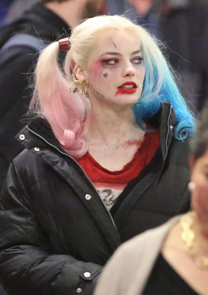 Margot Robbie – On Set Of 'Suicide Squad' in Toronto