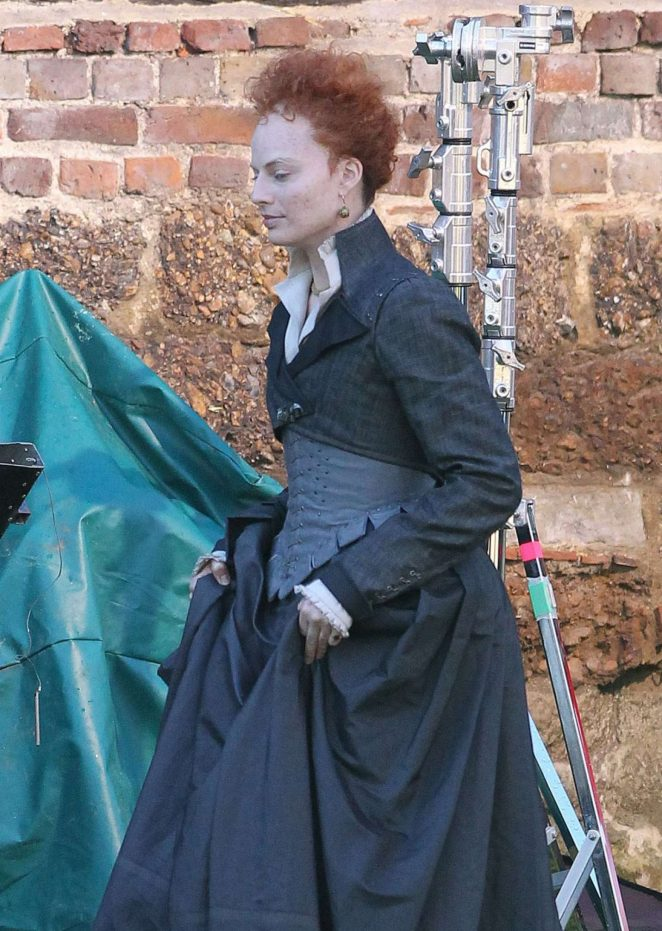 Margot Robbie on the set of Mary Queen Of Scots Movie -01