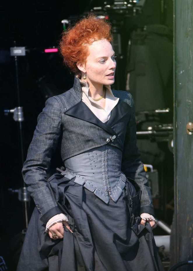 Margot Robbie on the set of Mary Queen Of Scots Movie -06