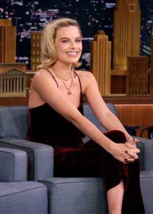 Margot Robbie on 'The Tonight Show Starring Jimmy Fallon' in New York
