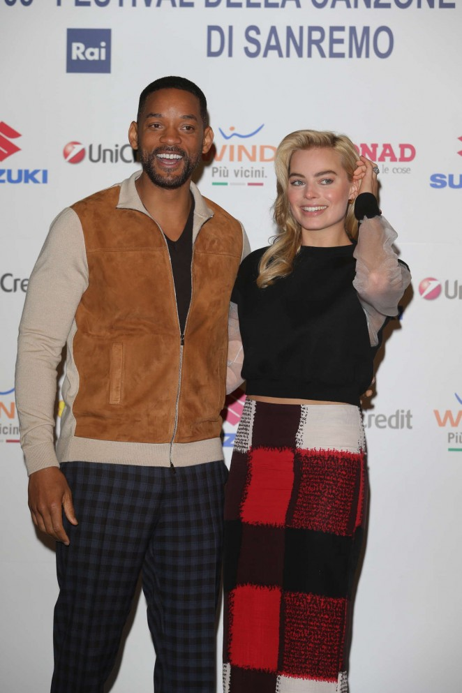 Margot Robbie - Sanremo 2015 Day 3 Photocall & Press Conference