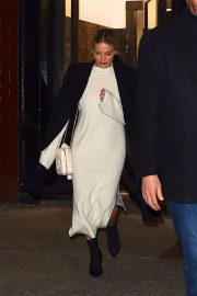 Margot Robbie spotted at Carbone in New York
