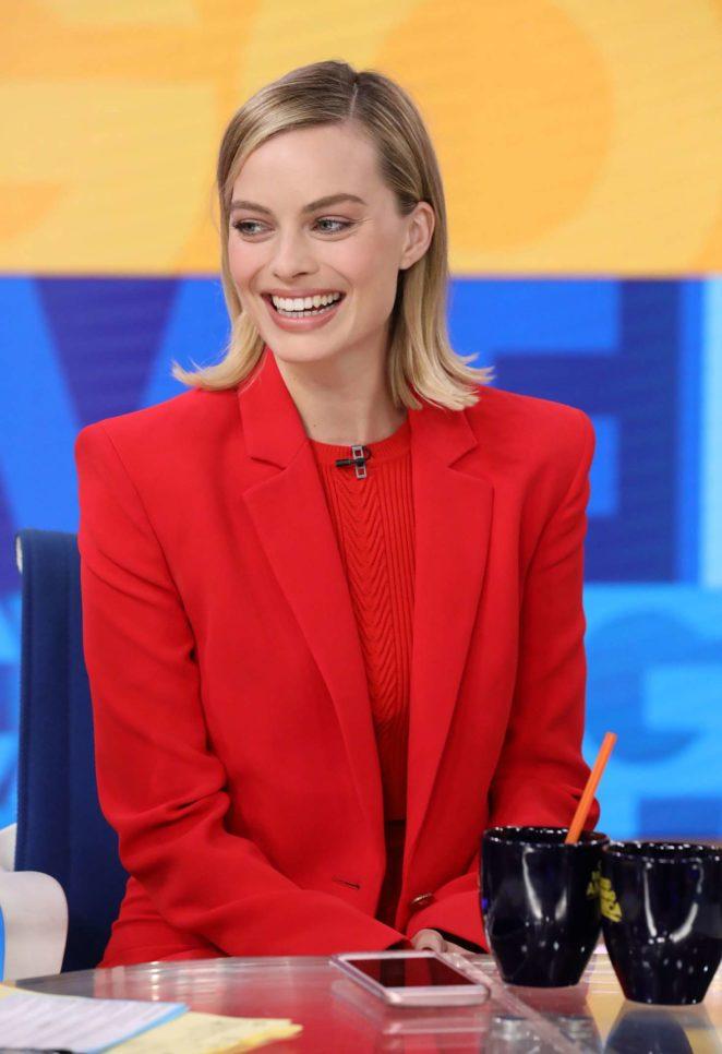 Margot Robbie visits 'Good Morning America' in New York City