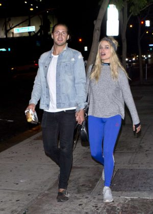 Margot Robbie with boyfriend out in West Hollywood