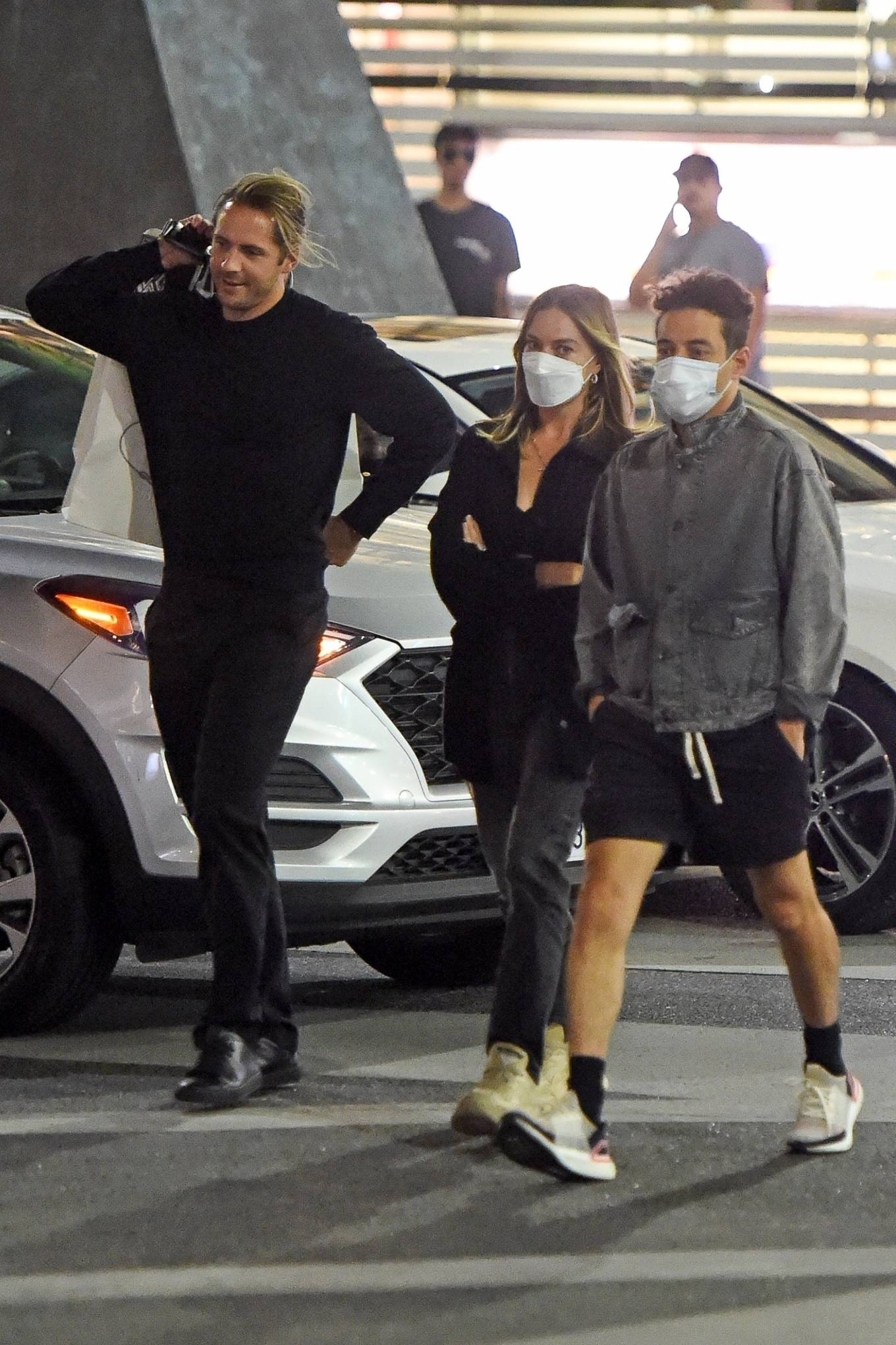 Margot Robbie - With Tom Ackerley and Rami Malek in Beverly Hills