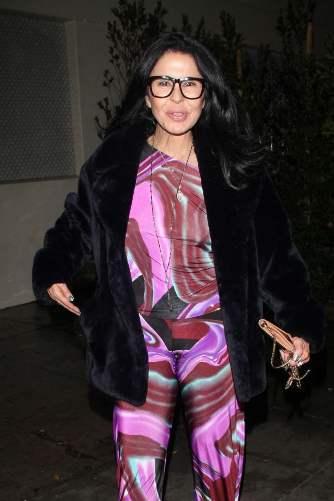 Maria Conchita Alonso in colorful at Delilah in West Hollywood