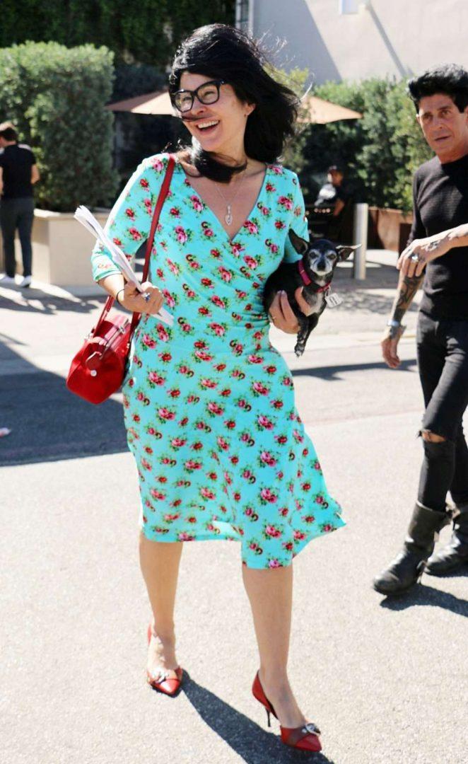 Maria Conchita Alonso Leaving Salon in Los Angeles