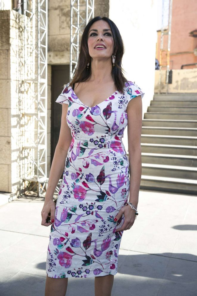 Maria Grazia Cucinotta at 62nd Taormina Film Festival in Taormina