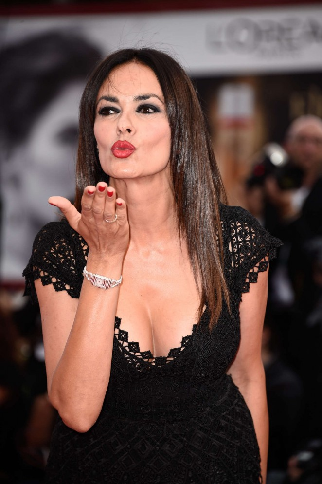 Maria Grazia Cucinotta - Opening Ceremony and Premiere of 'Everest' at 72nd Venice Film Festival