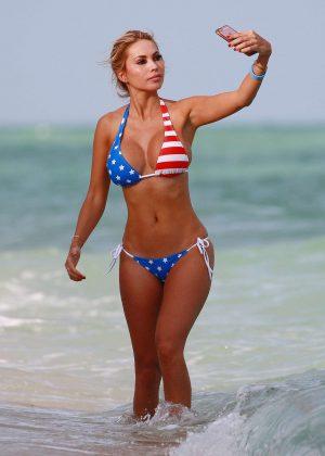 Maria Hering in a USA Bikini in Miami