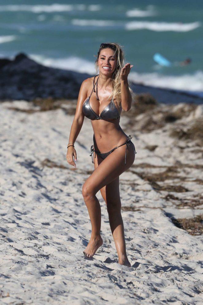 Maria Hering in Bikini on South Beach in Miami