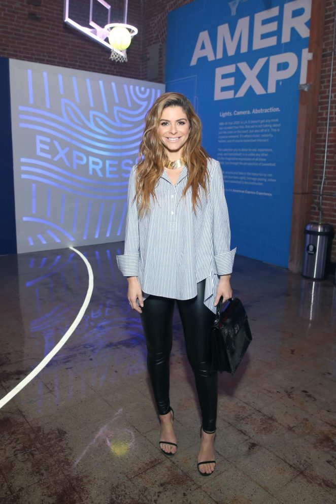 Maria Menounos - American Express Fan Experience at NBA All-Star Weekend in LA