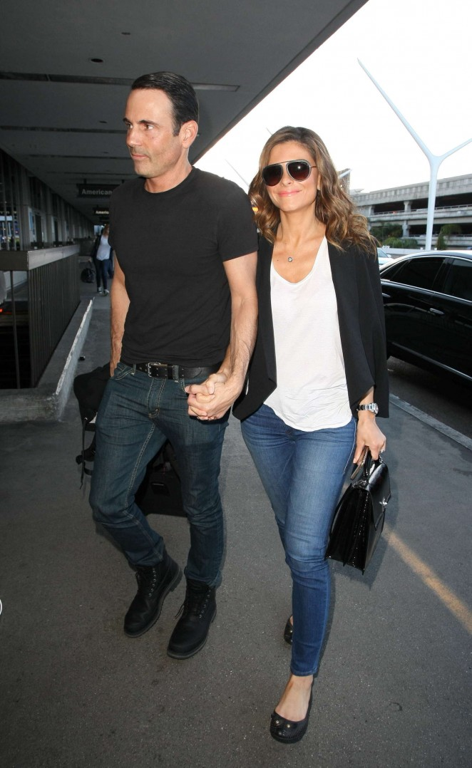 Maria Menounos and Keven Undergaro at LAX Airport in LA