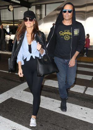 Maria Menounos and Keven Undergaro at LAX Airport in Los Angeles