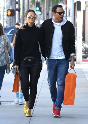 Maria Menounos and Keven Undergaro - Shopping in Beverly Hills