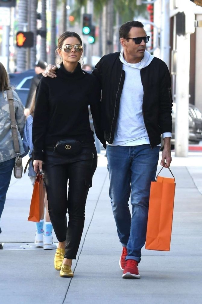 Maria Menounos and Keven Undergaro – Shopping in Beverly Hills
