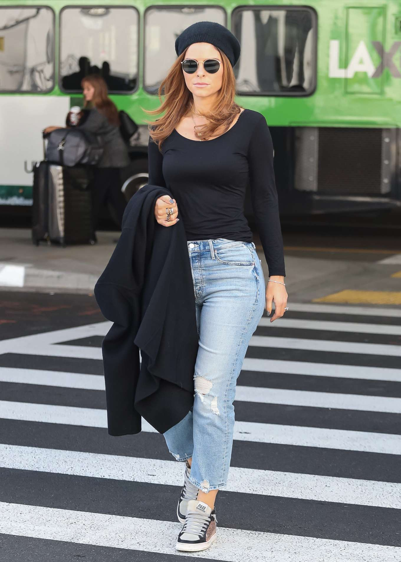 Maria Menounos - Arrives at LAX airport in Los Angeles