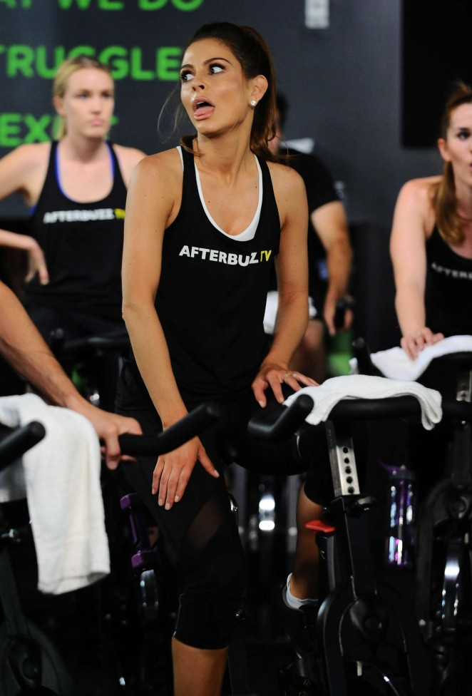 Maria Menounos at Cycle House in LA