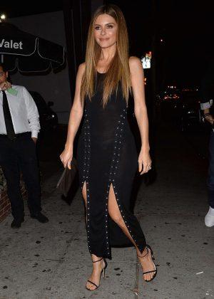 Maria Menounos in Black Dress - Arrives at Delilah in West Hollywood
