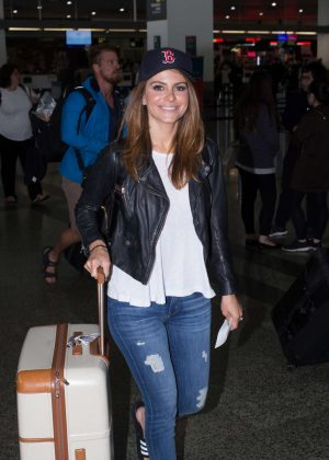 Maria Menounos in Jeans at Airport in Melbourne