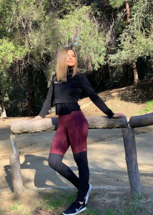 Maria Menounos in Tights Hiking in Hollywood - Instagram Pics