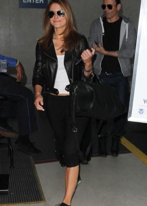 Maria Menounos in Leggings at LAX -06