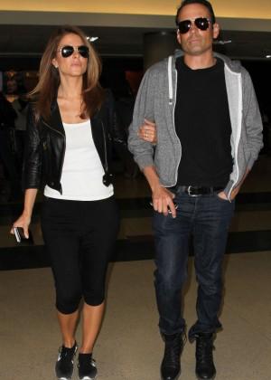 Maria Menounos in Leggings at LAX airport in LA