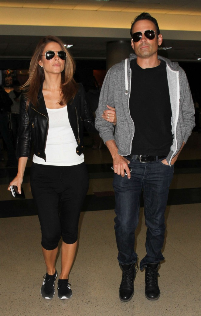 Maria Menounos in Leggings at LAX -07