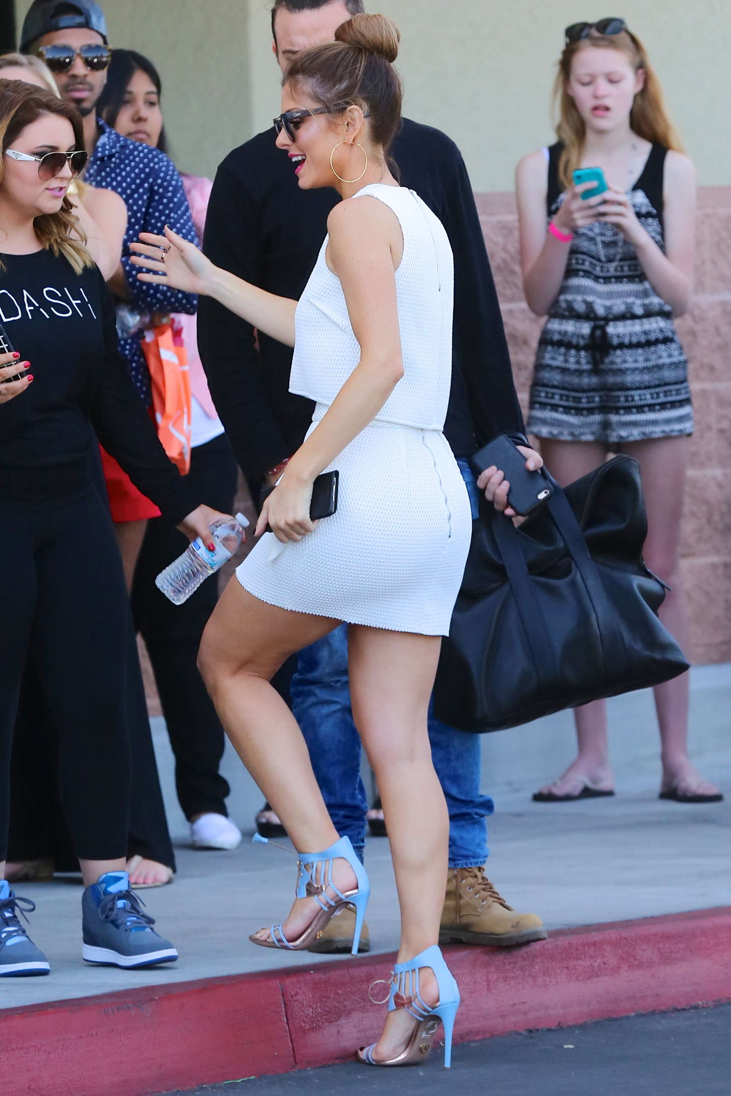 Maria Menounos in Tight Mini Dress - Leaving 'ULTA' in LA
