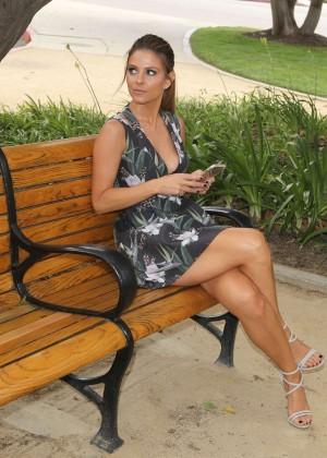 Maria Menounos Leggy in Mini Dress -10