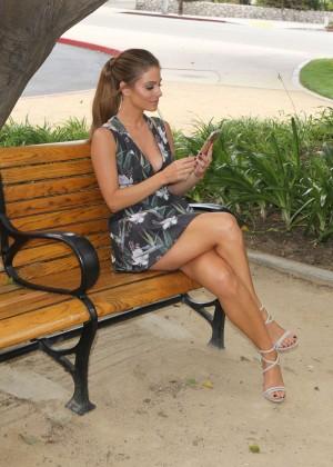 Maria Menounos Leggy in Mini Dress -13