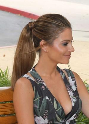 Maria Menounos Leggy in Mini Dress -17