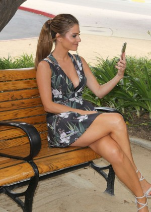 Maria Menounos in Mini Dress on the set of E! News