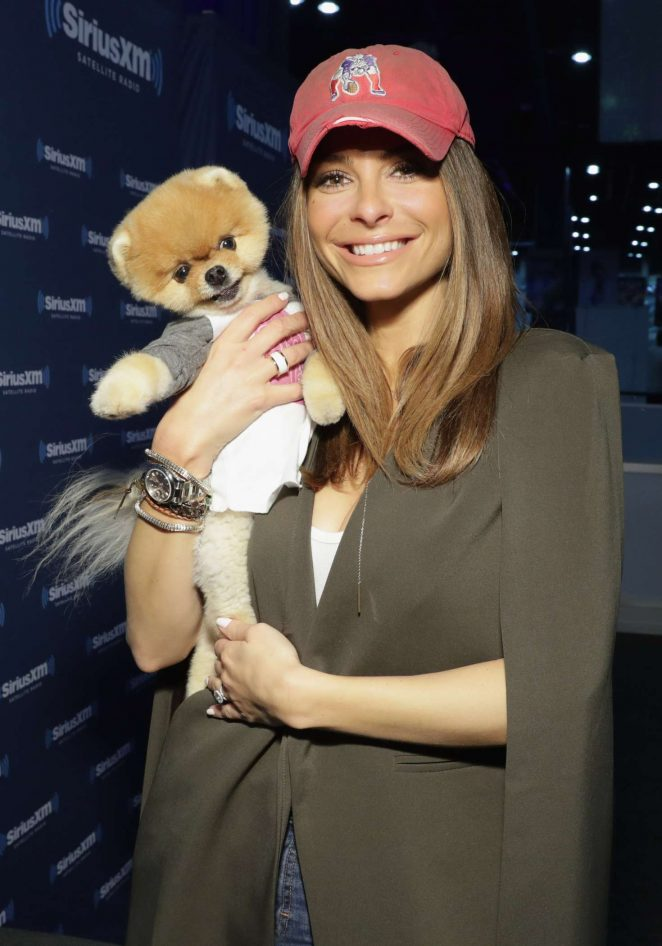 Maria Menounos - SiriusXM show 'Conversations with Maria Menounos' in Houston