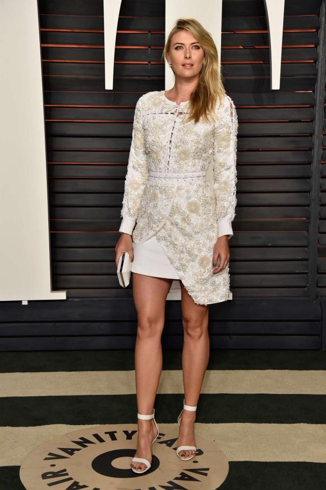 Maria Sharapova - 2016 Vanity Fair Oscar Party in Beverly Hills
