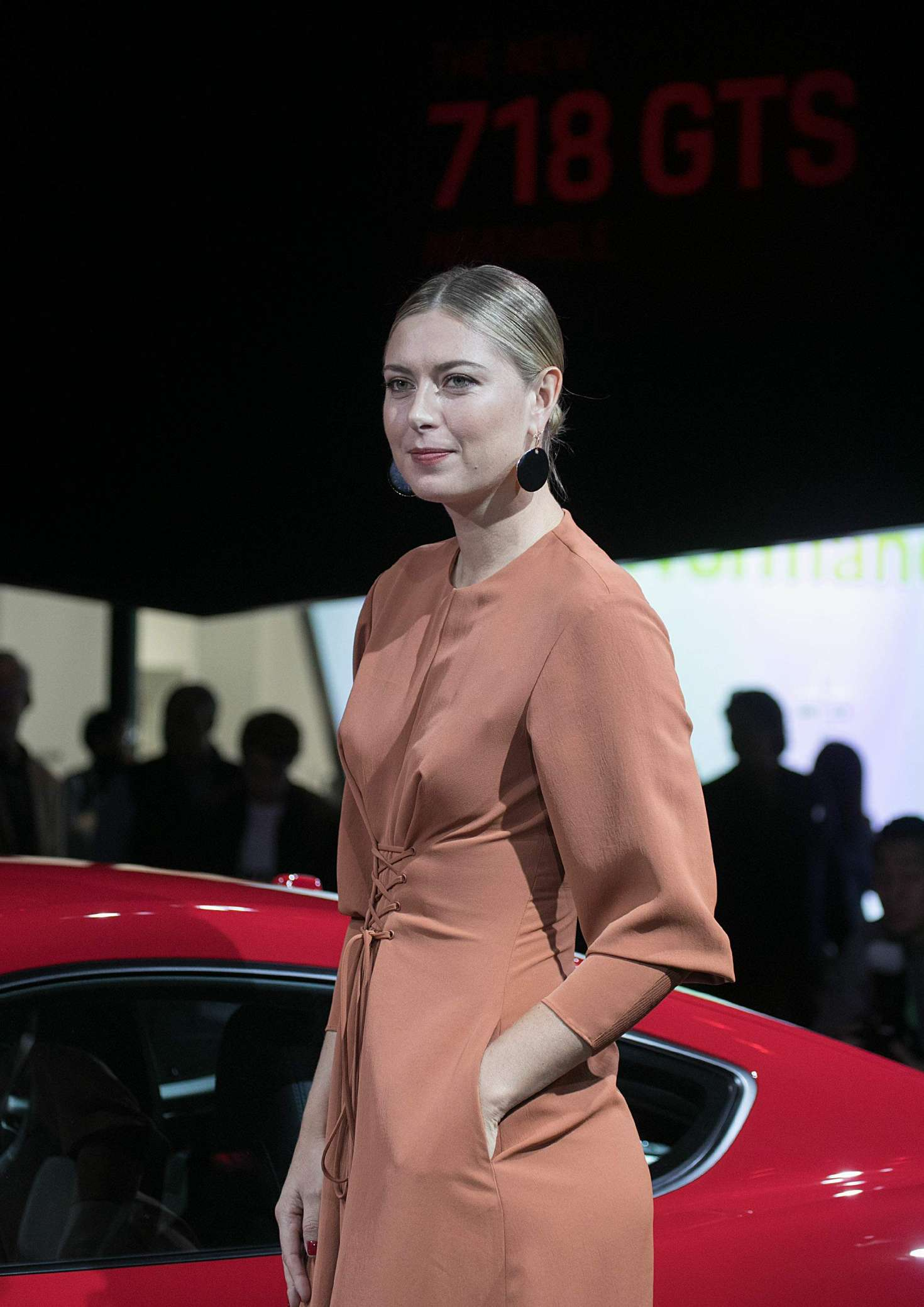 Maria Sharapova - 2018 Porsche 718 Cayman GTS at the LA ...