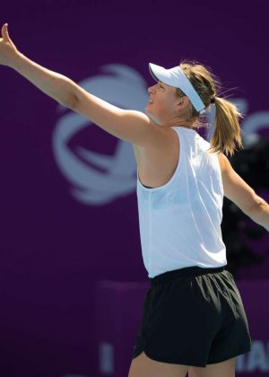 Maria Sharapova - 2018 Qatar WTA Total Open in Doha ...
