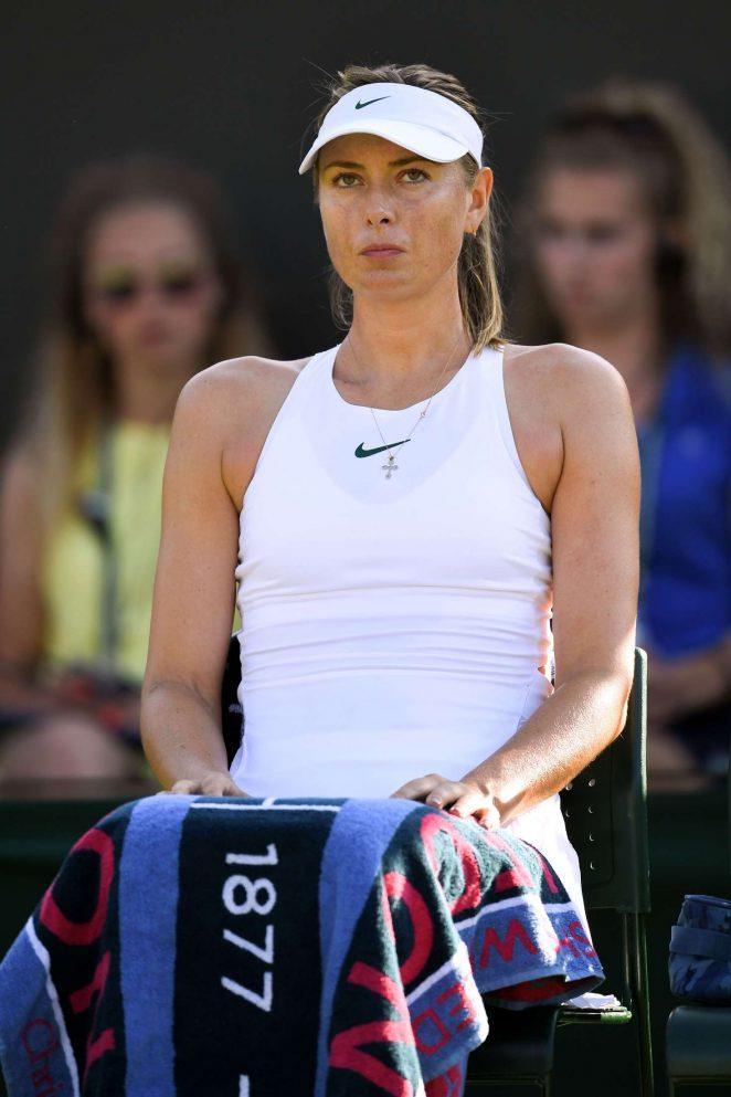 Maria Sharapova - 2018 Wimbledon Tennis Championships in London Day 2