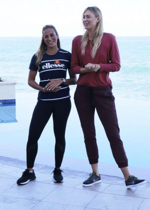 Maria Sharapova and Monica Puig - Press Conference to promote 'Monica Puig Invitational' in San Juan