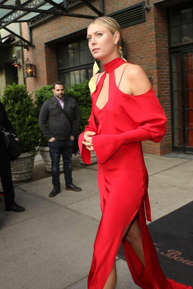 Maria Sharapova – Arriving at 2016 Met Gala in NYC