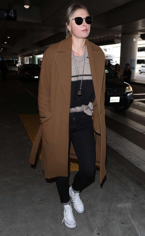 Maria Sharapova - Arriving at LAX Airport in LA