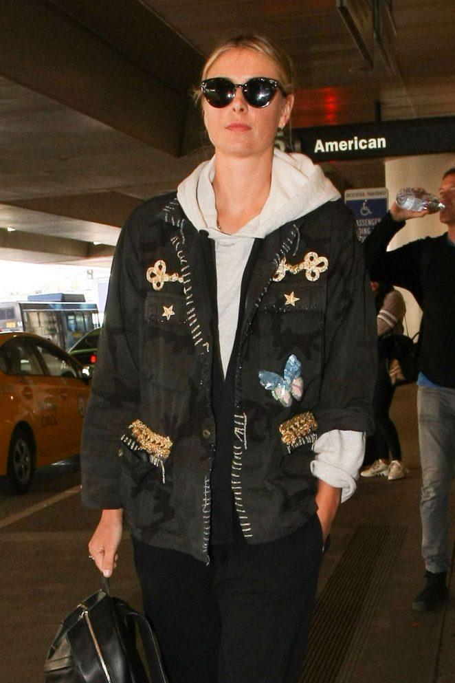 Maria Sharapova at LAX Airport in LA