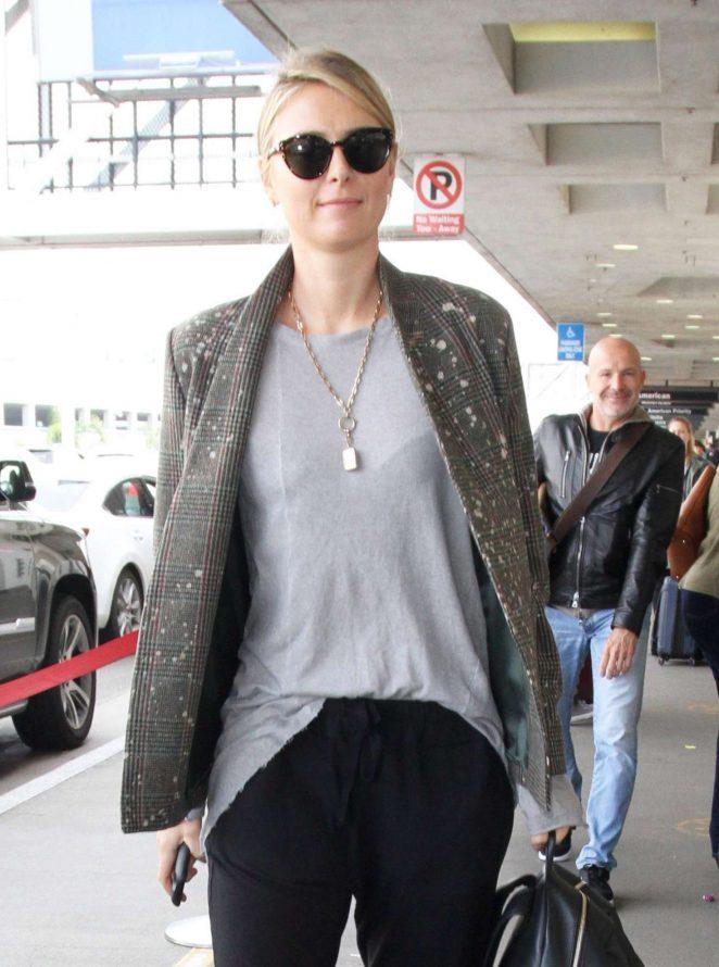 Maria Sharapova at LAX Airport in Los Angeles