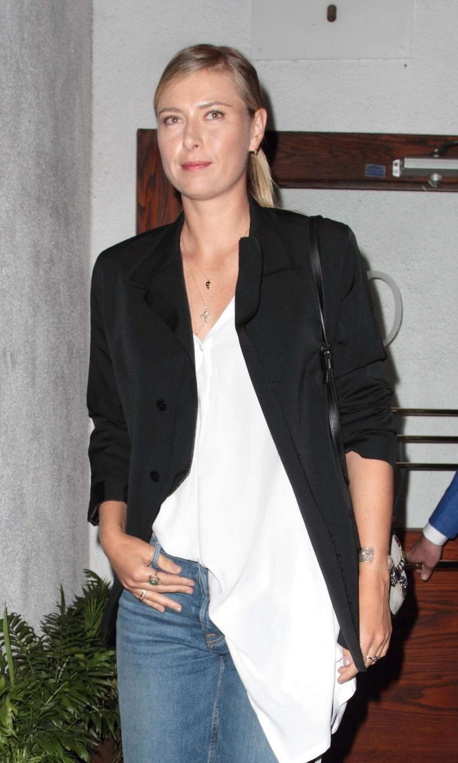 Maria Sharapova at Madeo restaurant in West Hollywood