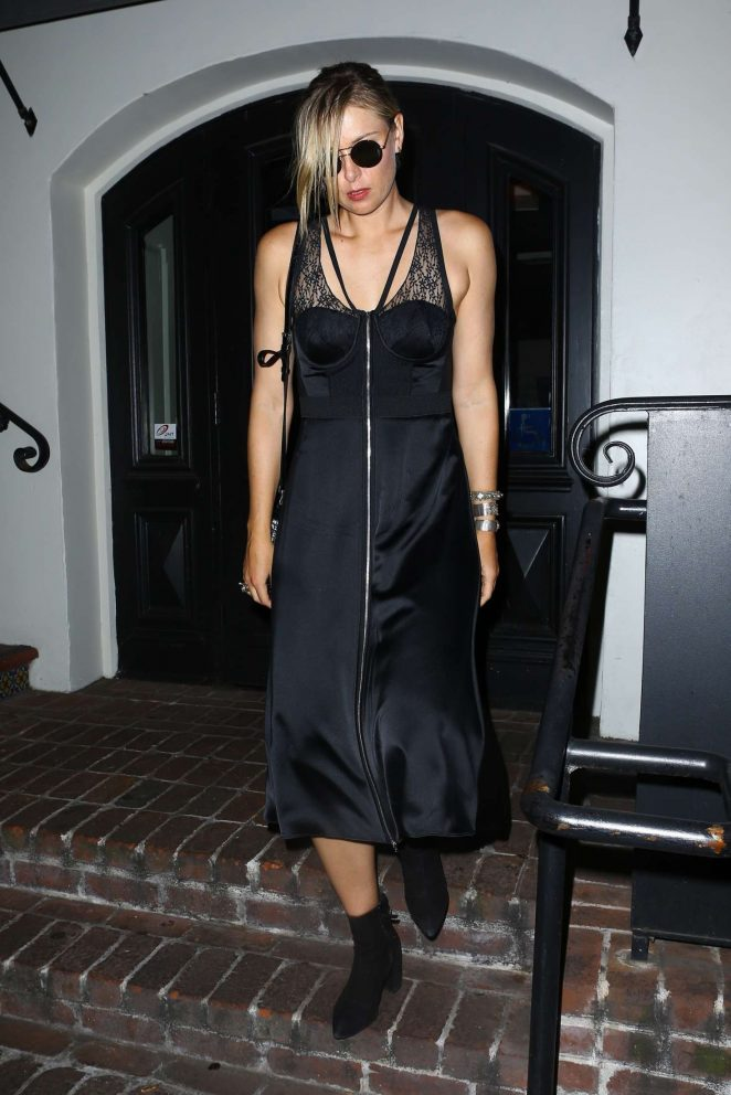 Maria Sharapova - Celebrated her birthday at A.O.C. in West Hollywood
