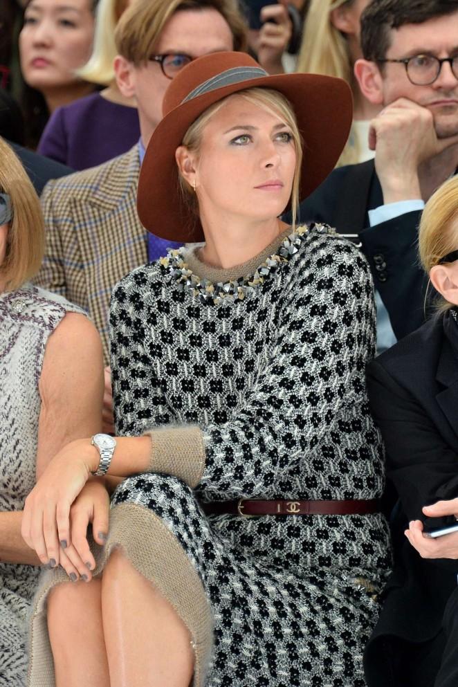 Maria Sharapova - Chanel Show at Paris Fashion Week