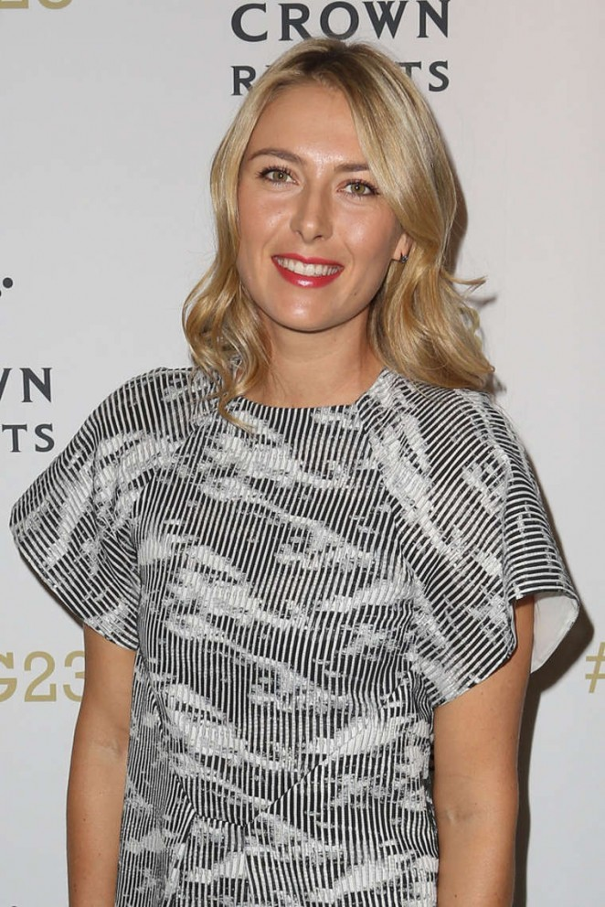 Maria Sharapova - Crown's IMG@23 Tennis Players' Party in Melbourne