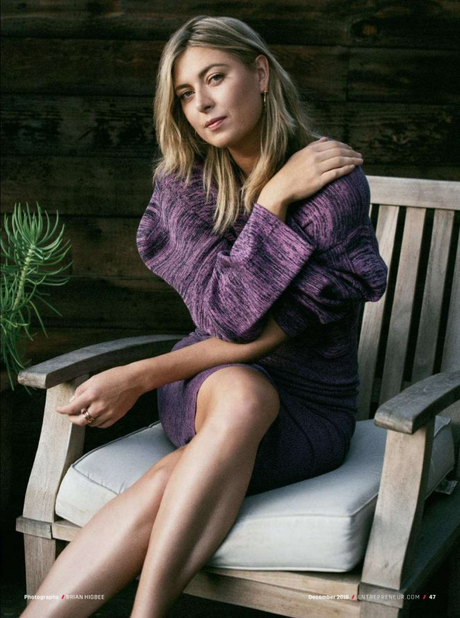 Maria Sharapova – Entrepreneur US Magazine (December 2018)