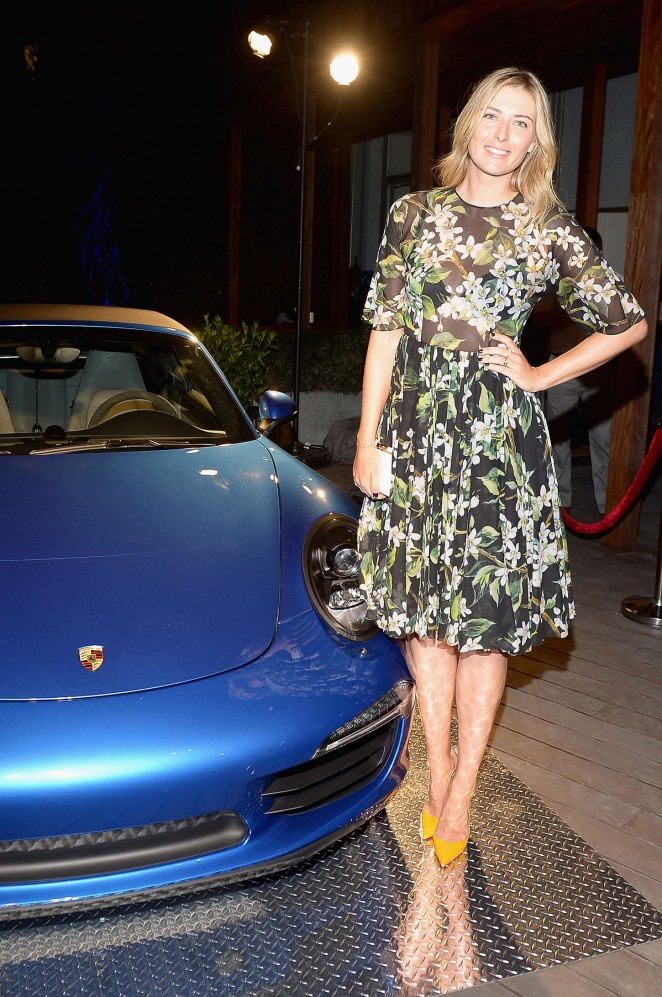 Maria Sharapova - Haute Living Cover Release Party in Miami